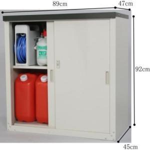 物置 屋外 グリーンライフ 収納庫HS−92+エアコン室外機カバーAC-78MMセット スチール物置 小型|tac-online|02