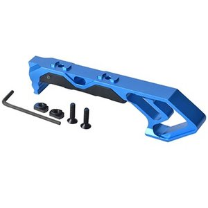 アングルハンドストップ高品質アルミCNC加工/Blue|tac-zombiegear