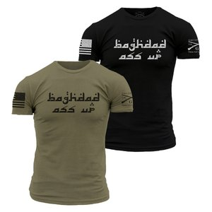 BAGHDAD ASS UP Tシャツ ミリタリーグリーン【GRUNT STYLE】日本正規販売代理店|tac-zombiegear