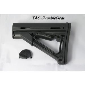 MAGPULタイプ CTRストックレプリカ/Black|tac-zombiegear