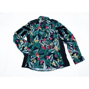 ハワイアンフラワー 花柄 コンバットシャツ グリーン/  男女兼用 tac-zombiegear