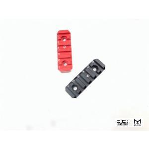 STRIKE INDUSTRIESタイプ Link Rail Section 6スロット ブラック/レッド【ポスト投函商品】|tac-zombiegear
