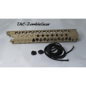 LVOAタイプ WCRS(ワイヤーカッターレイルシステム)12.5インチハンドガードレプリカ/TAN tac-zombiegear