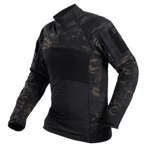 タクティカルコンバットシャツ / マルチカムブラック|tac-zombiegear