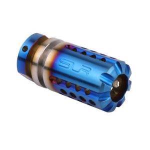 【SLR RIFLEWORKS タイプ】SLR Synergy Mini Comp 5.56タイプ(14mm 逆ネジ)/チタンブルー|tac-zombiegear