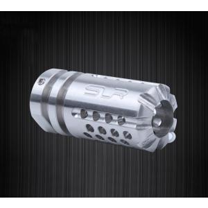 【SLR RIFLEWORKS タイプ】SLR Synergy Mini Comp 5.56タイプ(14mm 逆ネジ)/シルバー|tac-zombiegear