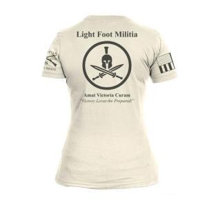 「LIGHT FOOT MILITIA」Female Tシャツ|tac-zombiegear