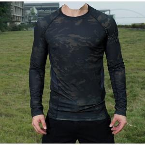 メッシュロングスリーブ Tシャツ マルチカムブラック|tac-zombiegear