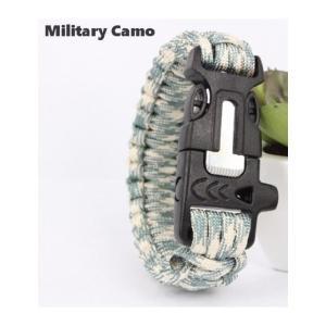 緊急ギアキット「エスケープ パラコードブレスレット」 / Military Camo【ポスト投函商品】|tac-zombiegear