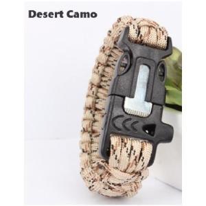 緊急ギアキット「 エスケープ パラコードブレスレット」 / Desert Camo【ポスト投函商品】|tac-zombiegear
