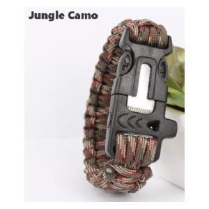 緊急ギアキット「 エスケープ パラコードブレスレット」 / Jungle Camo【ポスト投函商品】|tac-zombiegear
