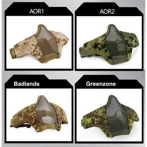 全4色タクティカルメッシュハーフマスク/オプションカラー|tac-zombiegear