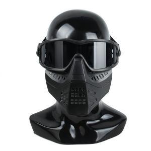 TMC製 ゴーグル付きマスク ブラック|tac-zombiegear