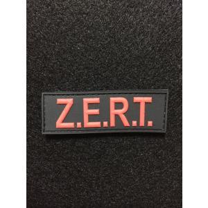 「ZERT」Tactical PVC Tab パッチ / Red【ポスト投函商品】|tac-zombiegear
