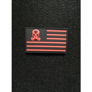 「ZERTNation Flag」パッチ  Black/Red【ポスト投函商品】|tac-zombiegear
