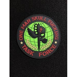 「One Man Skull F**king Task Force」 パッチ / PVC Large【ポスト投函商品】|tac-zombiegear