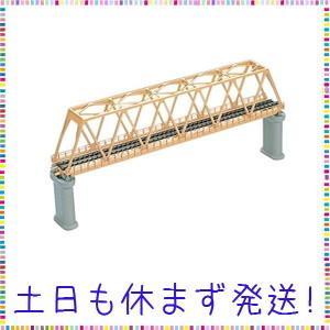 TOMIX Nゲージ 単線トラス形 鉄橋 F クリーム PC橋脚 2本付 3032 鉄道模型用品|tachibana-store