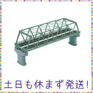 TOMIX Nゲージ 複線トラス鉄橋 F 緑 複線PC橋脚 2本付 3052 鉄道模型用品|tachibana-store