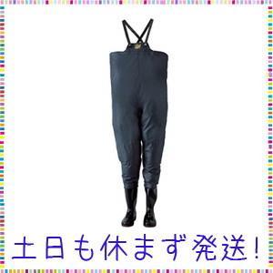 ロゴス クレモナ水産 胴付き長靴 鉄紺 25.5cm 10068255|tachibana-store