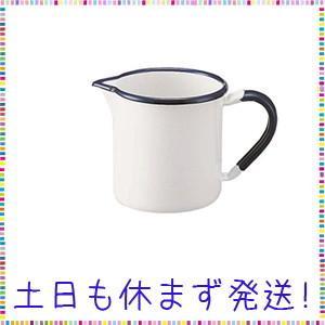 野田琺瑯(Nodahoro) 計量カップ 白 約17x10.5x10.9cm|tachibana-store