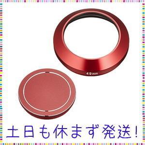 ETSUMI メタルインナーフード+キャップセット 49mm SONY SEL16F28(E16mm...