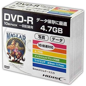 HIDISC データ用DVD-R スリムケース入り10枚パック tachibana-store