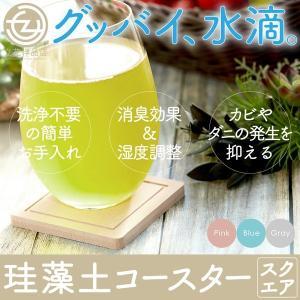 コースター 珪藻土 500ポイント消化 おしゃれ シンプル 吸水 スクエアタイプ 色が選べる2枚セット (送料無料)|tachibana-youhinten
