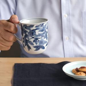 マグカップ たち吉 染付花鳥マグカップ 1個 209-0183 おしゃれ ブランド 和食器 贈り物
