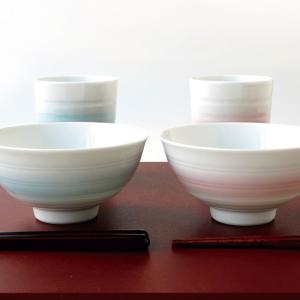 ●サイズ  茶碗:径11cm・高さ5cm 2個  湯呑:径7cm・高さ8cm 2個 容量(満水):約...