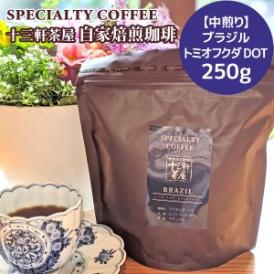 自家焙煎珈琲豆【中煎り】ブラジル トミオフクダ DOT 250g/スペシャルティコーヒー/コーヒー豆/十三軒茶屋|tachimachiya
