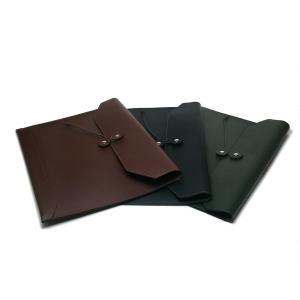 日本製本革A4サイズ封筒型書類ケース スリムタイプ ブラック・ダークブラウン・ダークグリーン|tackcraft