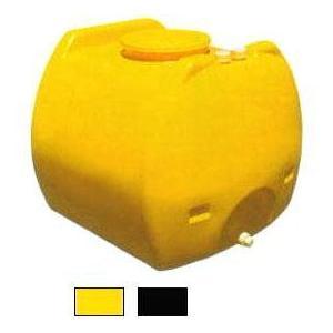 (個人宅配OK) モリマーサム樹脂工業 ローリータンク SL-600 黄色・黒色 600L 排水口付...