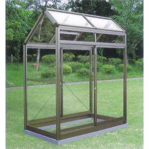 アルミ製ガラス温室 チャッピーA1型 0.5坪|tackey