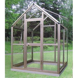 アルミ製 ガラス温室 チャッピーB1型 1坪|tackey