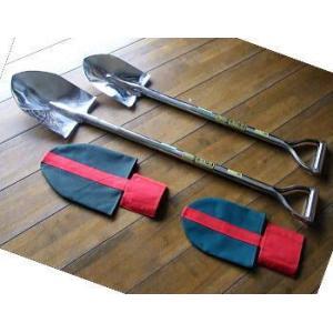 最高級 鍛造 オールステンレススコップ 剣先 剣型 (丸型) 大 長さ1050mm カバー付き ステンレス 剣スコ|tackey