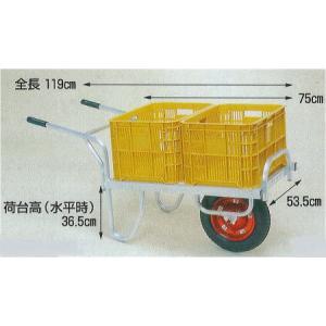 コン助 CN-40D エアータイヤ・ブレーキ無 アルミ製 平型一輪車|tackey