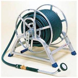ハラックス マキ太郎 WS-15-50 φ15水道ホースセット (φ15mm水道ホース巻取機・50m巻)アルミ製 ホースリール|tackey