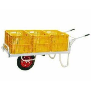 コン助 CN-60D エアータイヤ・ブレーキ無 アルミ製平型一輪車|tackey