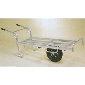 ハラックス コン助 CNB-65D エアータイヤ・ブレーキ付 アルミ平型一輪車|tackey