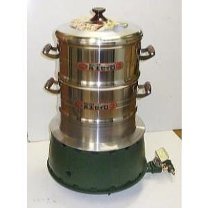 ガスかまど 羽釜30cmアルミ鋳物セイロ30cm二重付きセット 画像(1)