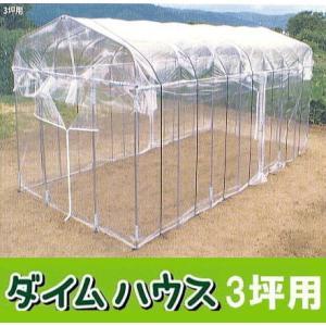 ビニール温室 ダイムハウス(ビニールハウス)3坪|tackey