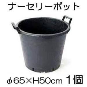 ナーセリーポット 持ち手つきRP φ65×H50cm 110L 穴有り 1個単位 (植木鉢 プラスチック)|tackey
