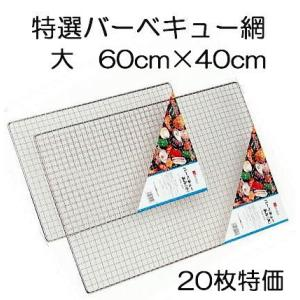 バーベキュー網(大) 40cm×60cm 20枚特価