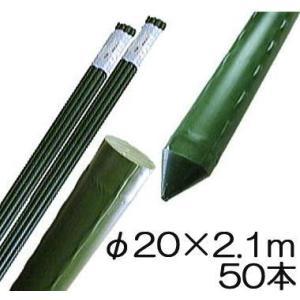 園芸支柱 イボ付 鋼管竹 φ20mm×2.1m 50本単位 シンセイ tackey