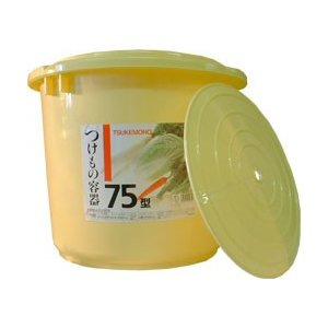 新輝合成 トンボ つけもの容器 漬物容器 75型 75L (押しフタ付)