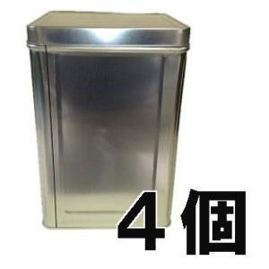 空缶 無地18L角缶天切空缶(1斗ブリキ缶)角フタ付き 4個単位 [一斗缶 1斗缶]|tackey