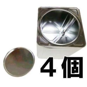 空缶 無地18L角缶 丸フタ付(1斗ブリキ缶) 4個単位 [一斗缶 1斗缶]|tackey