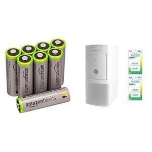 Amazonベーシック 高容量充電式ニッケル水素電池単3形8個パック +SECULINE 自動充電器...