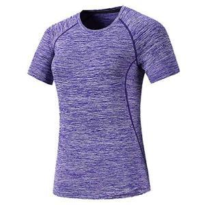[ジェームズ・スクエア] レディース 速乾 ドライ Tシャツ スポーツ トレーニング シャツ 半袖 ...