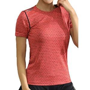 [ジェームズ・スクエア] レディース ドライ ストレッチ Tシャツ スポーツ トレーニング シャツ ...